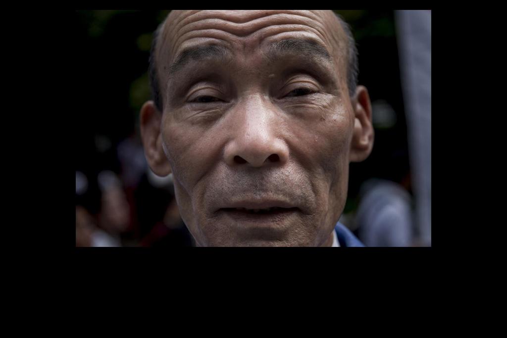 """Portrait de Kazuo Ishikawa le 24 mars 2016 à Tokyo. Membre de la caste des Burakumin, les """"intouchables"""" japonais, Ishikawa plaide son innocence du meurtre d'une lycéenne dans l'affaire du """"Sayama Incident"""" en 1963. (Copyright : Alessandro di Ciommo)"""