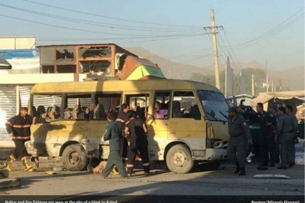 L'attentat-suicide contre un minibus à Kaboul a fait 14 victimes, exclusivent népalaises. Copie d'écran du Kathmandu Post, le 20 juin 2016.