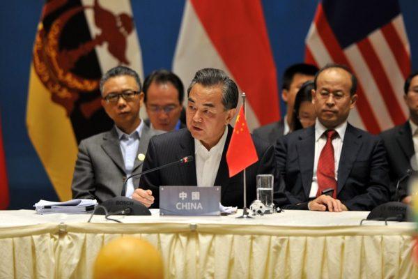 Wang Yi, le chef de la diplomatie chinoise, s'exprime lors du sommet des ministres des affaires étrangères de Chine et de l'ASEAN à Yuxi, dans la province méridionale du Yunnan en Chine, le 14 juin 2016.