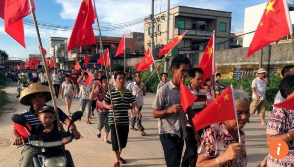 """Le """"village rebelle"""" de Wukan avait déjà été le théâtre de manifestations en 2011. Copie d'écran du South China Morning Post, le 21 juin 2016."""