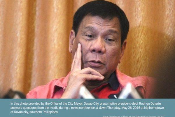 """L'ONU a rappelé à l'ordre le président philippin, accusé de s'attaquer aux journalistes. Copie d'écran de """"Philstar"""", le 7 juin 2016."""