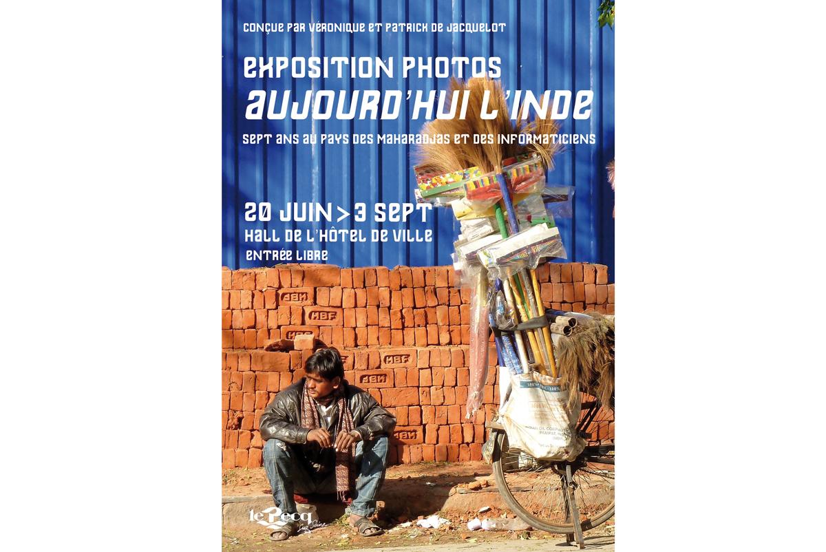 """""""Aujourd'hui l'Inde"""", une exposition de photos de Patrick et Véronique de Jacquelot du 20 juin au 3 septembre 2016 à Pecq."""