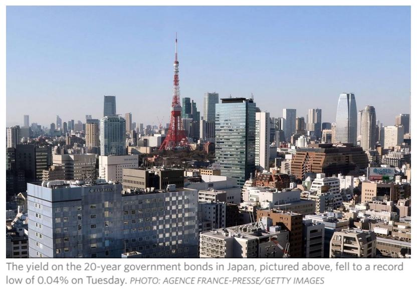 Les marchés japonais continuent d'être secoués par le Brexit. Copie d'écran du Wall Street Journal, le 28 juin 2016.