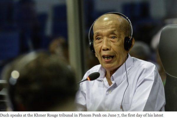 L'ancien responsable de la prison S-21 témoigne sur les crimes commis par les Khmers rouges. Copie d'écran du Cambodia Daily, le 28 juin 2016.