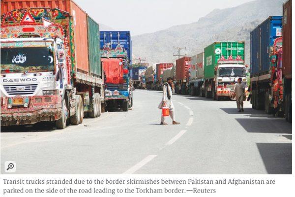 Malgré le cessez-le-feu, l'incompréhension règne encore autour de la frontière afghano-pakistanaise. Et la tension n'est toujours pas retombée. Copie d'écran de Dawn, le 17 juin 2016.