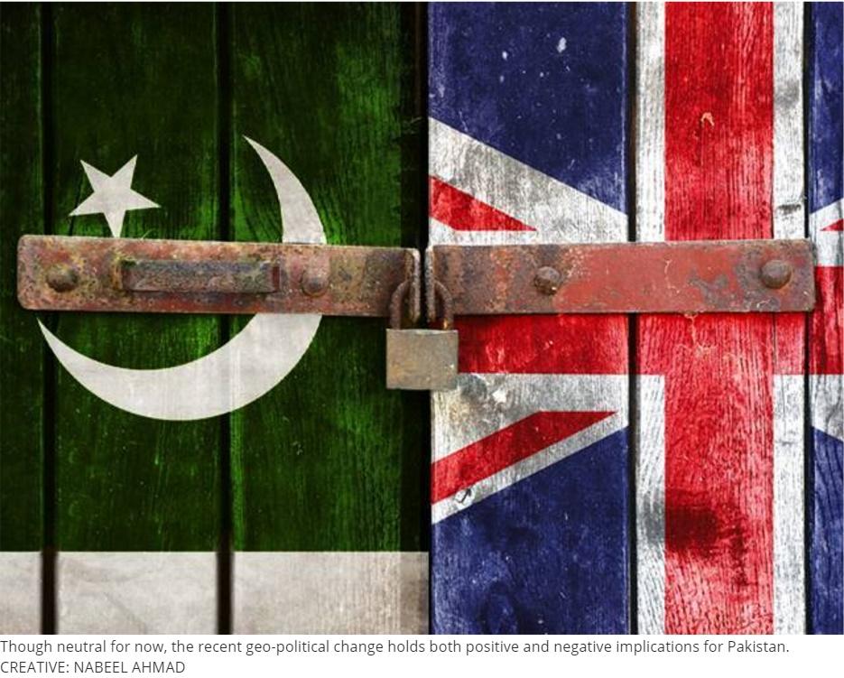 L'impact du Brexit sur le Pakistan sera certainement défavorable. Copie d'écran de The Express Tribune, le 28 juin 2016.