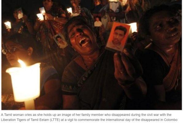 Les efforts du gouvernement srilankais en faveur de la réconciliation nationale continuent. Copie d'écran de Reuters, le 9 juin 2016.