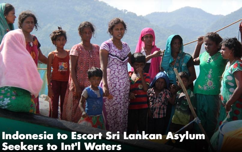 Après avoir ravitaillé et réparé l'embarcation des migrants sri-lankais, l'Indonésie l'a laissée reprendre la mer. Copie d'écran du Jakarta Globe, le 17 juin 2016.
