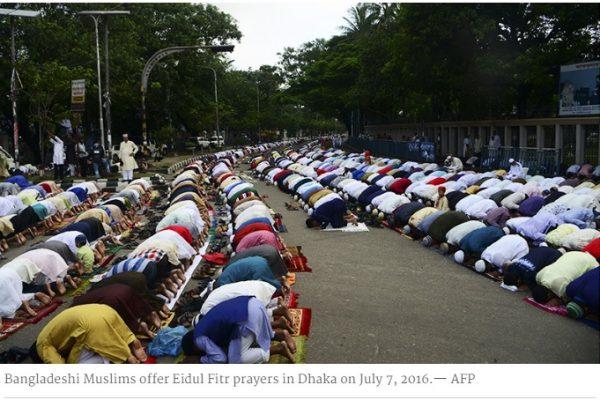Attentat près d'un lieu de prière du Bangladesh réunissant 200 000 croyants pour l'Aïd el-Fitr. Copie d'écran de Dawn, le 7 juillet 2016.