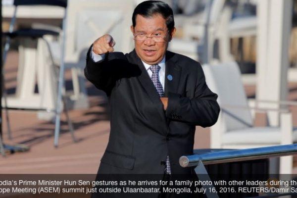 L'armée cambodgienne a annoncé enquêter sur une planification d'un coup d'Etat suspect pour renverser le Premier ministre Hun Sen. Copie d'écran de Channel News Asia, le 20 juillet 2016.