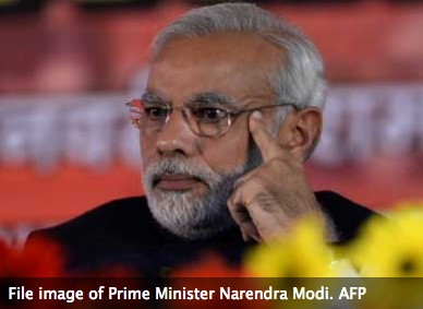 Narendra Modi, le Premier ministre indien, attaque de front le Congrès pour faire passer sa réforme fiscale et remanie son gouvernement. Copie d'écran de Firstpost, le 5 juillet 2016.