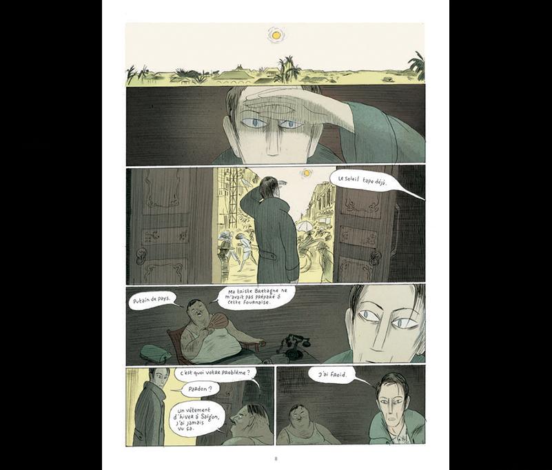 Extrait de Nuages et pluie, scénario Loo Hui Phang, dessin Philippe Dupuy. (Crédit DR).
