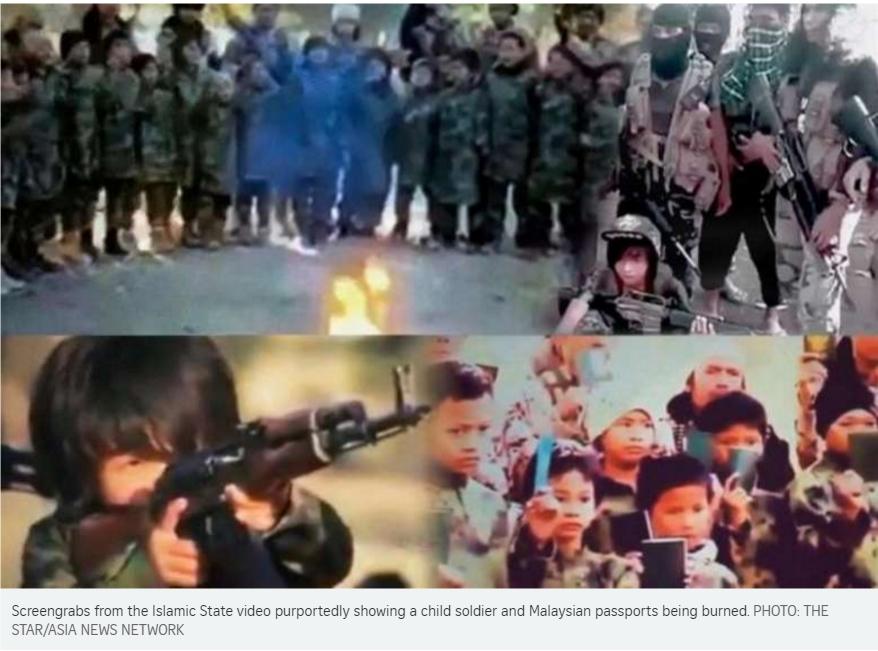 Un militant de Daech s'exprimant dans un mélange d'indonésien et d'arabe déclare la guerre à l'Indonésie et à la Malaisie au nom de l'organisation terroriste, dans une nouvelle vidéo. Copie d'écran du Straits Times, le 5 juillet 2016.