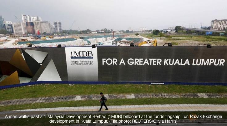 Les autorités américaines vont intenter des procès civils pour saisir les biens liés au scandale malaisien 1MDB. Copie d'écran de Channel News Asia, le 20 juillet 2016.