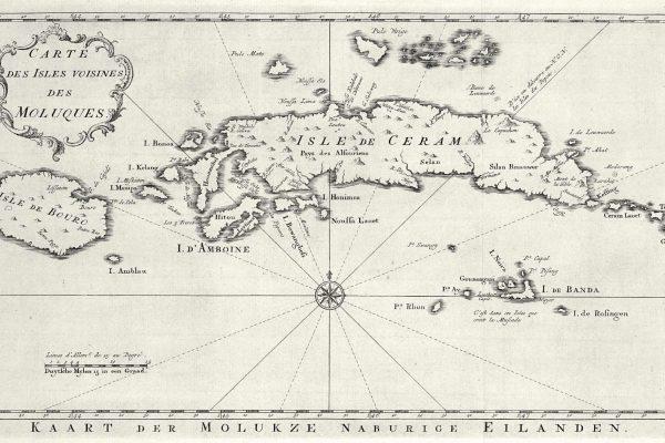 Carte des Moluques du Sud au XVIIIe siècle.