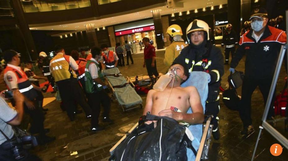 Une explosion dans un train à Taipei a fait plusieurs dizaines de blessés dans la nuit de jeudi à vendredi. Copie d'écran du South China Morning Post, le 8 juillet 2016.
