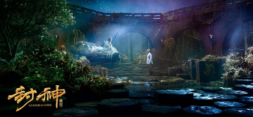 """Extrait de """"League of Gods"""" de Koan Hui : ici, Sky Lord (à gauche) incarné par l'acteur hongkongais Jackie Heung."""