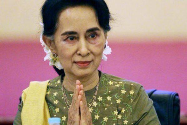 Pour la première fois depuis qu'elle est au pouvoir, Aung San Suu Kyi se rend en Chine. Copie d'écran du Jakarta Post, le 18 août 2016.