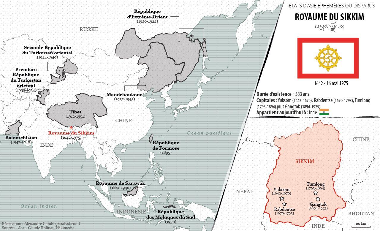 Carte Inde Sikkim.Vie Et Mort Du Royaume Du Sikkim 1642 1975 Asialyst
