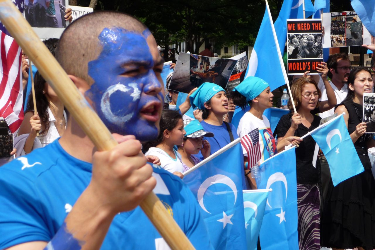 Manifestation tenue à Washington contre la répression chinoise lors des émeutes d'Urumqi, en 2009.