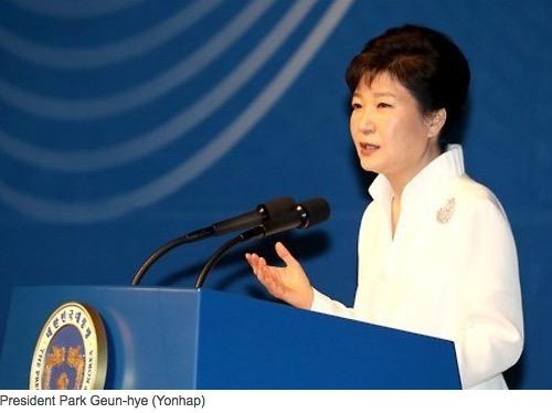 La présidente sud-coréenne Park Geun-hye a procédé le 16 août à un remaniement ministériel partiel, très critiqué par l'opposition. Copie d'écran du Korea Herald, le 17 août 2016.
