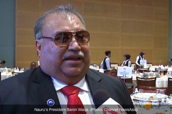 Le président de Nauru réfute les accusations d'abus dans les centres de détention australiens sur son territoire. Copie d'écran de Channel News Asia, le 17 août 2016.