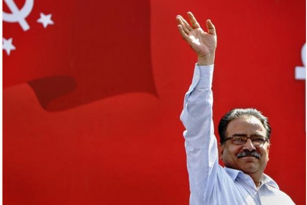 Le leader du parti communiste unifié du Népal Pushpa Kamal Dahal est assuré d'être élu Premier ministre ce mercredi 3 août, avec le soutien du Congrès népalais. Copie d'écran de The Hindu, le 3 août 2016.