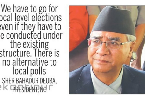 Copie d'écran du Katmandu Post, le 24 août 2016.