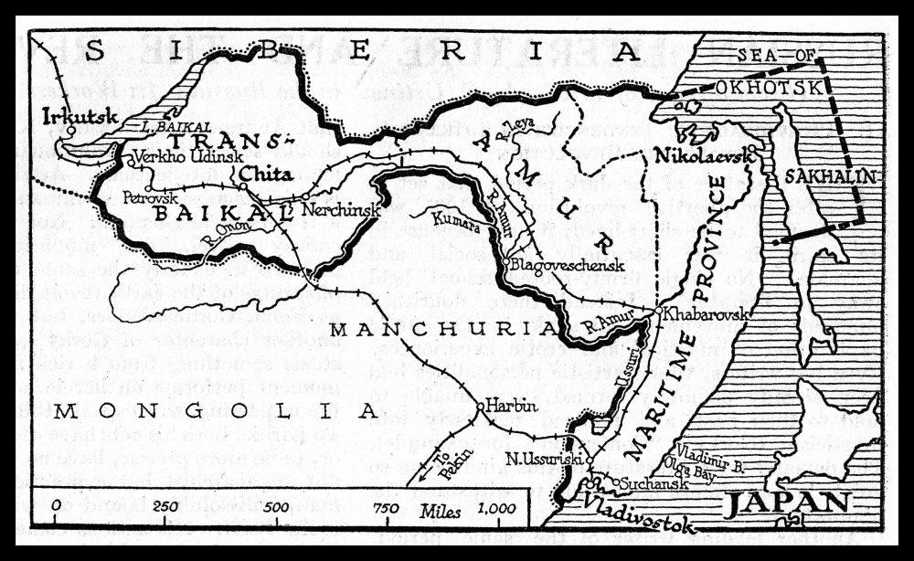 Carte de la République d'Extrême-Orient en 1922.