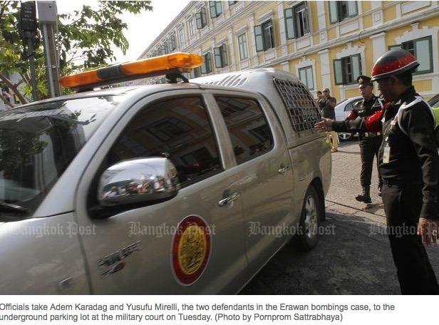 Copie d'écran du Bangkok Post, le 23 août 2016