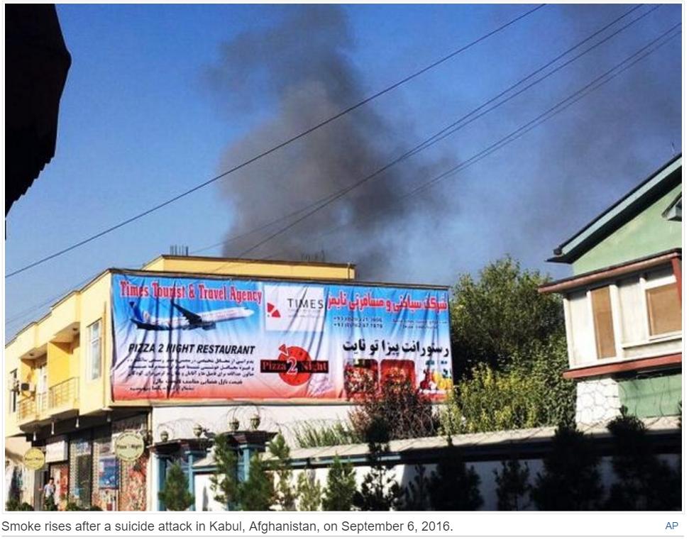 Dix heures après les premiers coups de feu, le dernier assaillant a été tué à Kaboul. Copie d'écran The Hindu, mardi 6 septembre 2016.