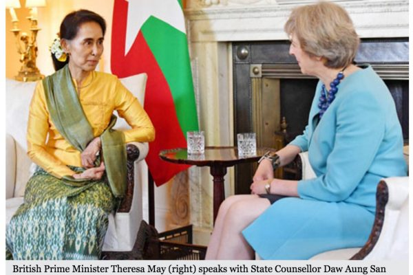 Washington avait maintenu les sanctions envers la Birmanie mi-mai. Copie d'écran du Myanmar Times, le 14 septembre 2016.
