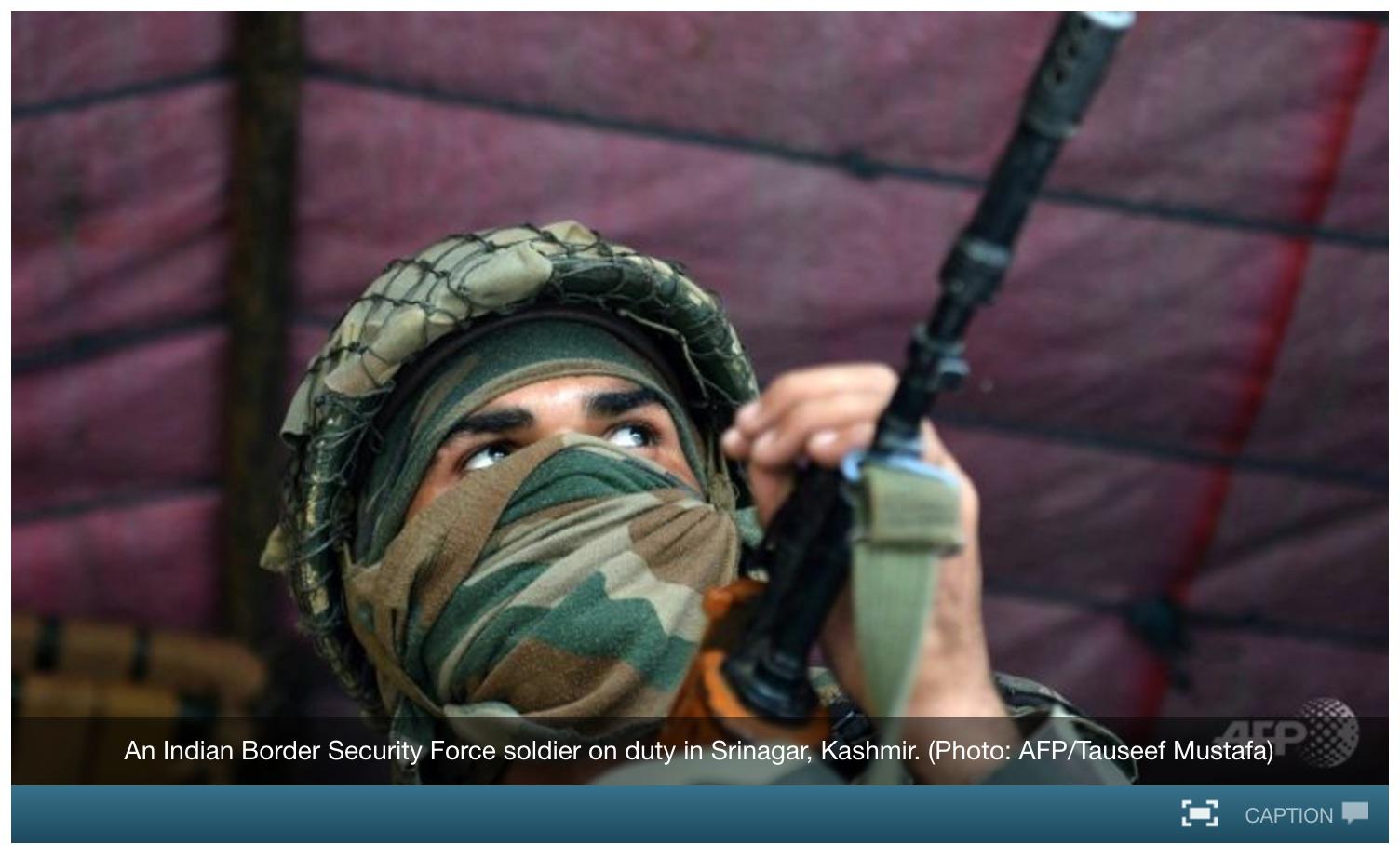 Trois jours après l'attaque meurtrière à la base militaire indienne d'Uri, l'accord de cessez-le-feu aurait été violé dans la zone. Copie d'écran de Channel News Asia, le 21 septembre 2016.