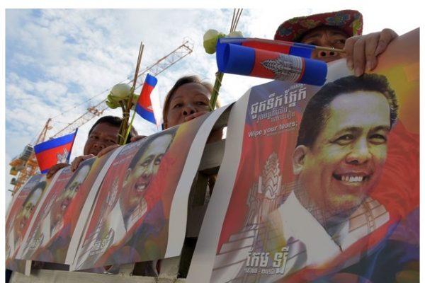 L'affaire du meurtre de Kem Ley, célèbre opposant politique cambodgien passera-t-elle devant le tribunal administratif de La Haye ? Copie d'écran du Cambodian Times, le 7 septembre 2016