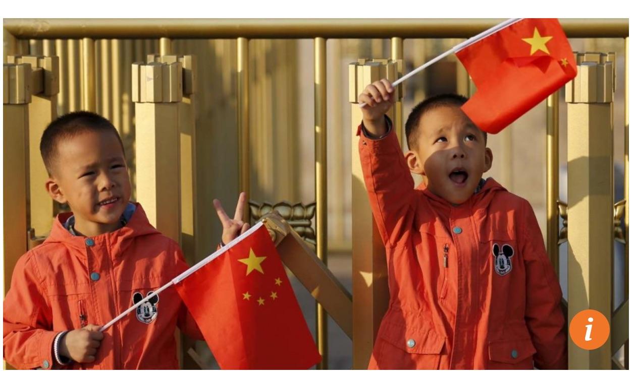 Alors que Yichang dans le Hubei fut autrefois une ville modèle de la politique de l'enfant unique, elle incite à présent les couples à avoir deux enfants. Copie d'écran du South China Morning Post, le 22 septembre 2016.