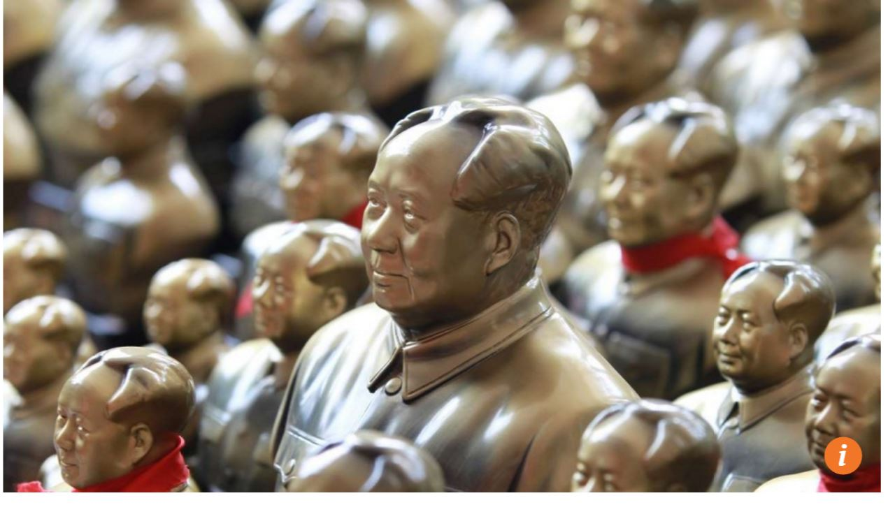 A Shaoshan, ville natale de Mao, les effigies du dirigeant chinois sont omniprésentes. Un commerce longtemps florissant qui commence à décliner. Copie d'écran du South China Morning Post le 9 septembre 2016.