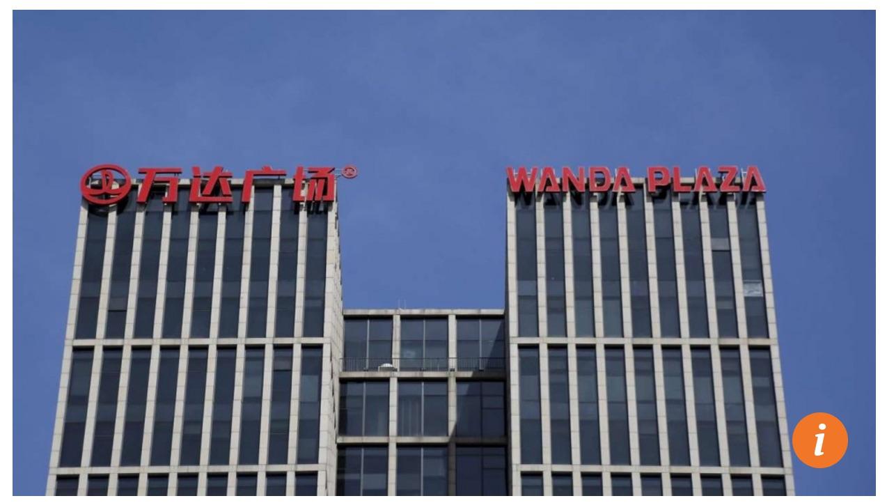 La compagnie est sous les feux des projecteurs après projecteurs après avoir racheté une part majoritaire dans Legendary Entertainment, célèbre société de production cinématographique. Copie d'écran du South China Morning Post, le 29 septembre 2016.