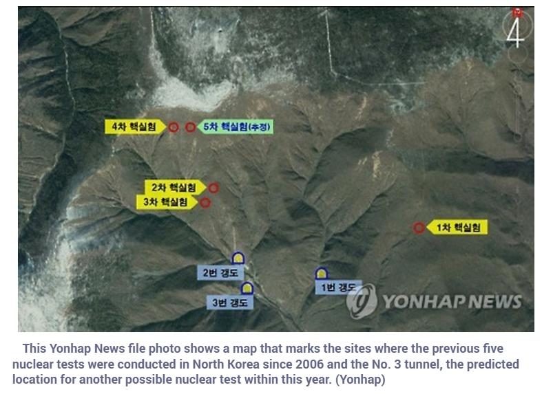 Séoul s'attend à un nouvel essai nucléaire de la part de Pyongyang, et l'armée se tient prête. Copie d'écran de Yonhap, le 12 septembre 2016.
