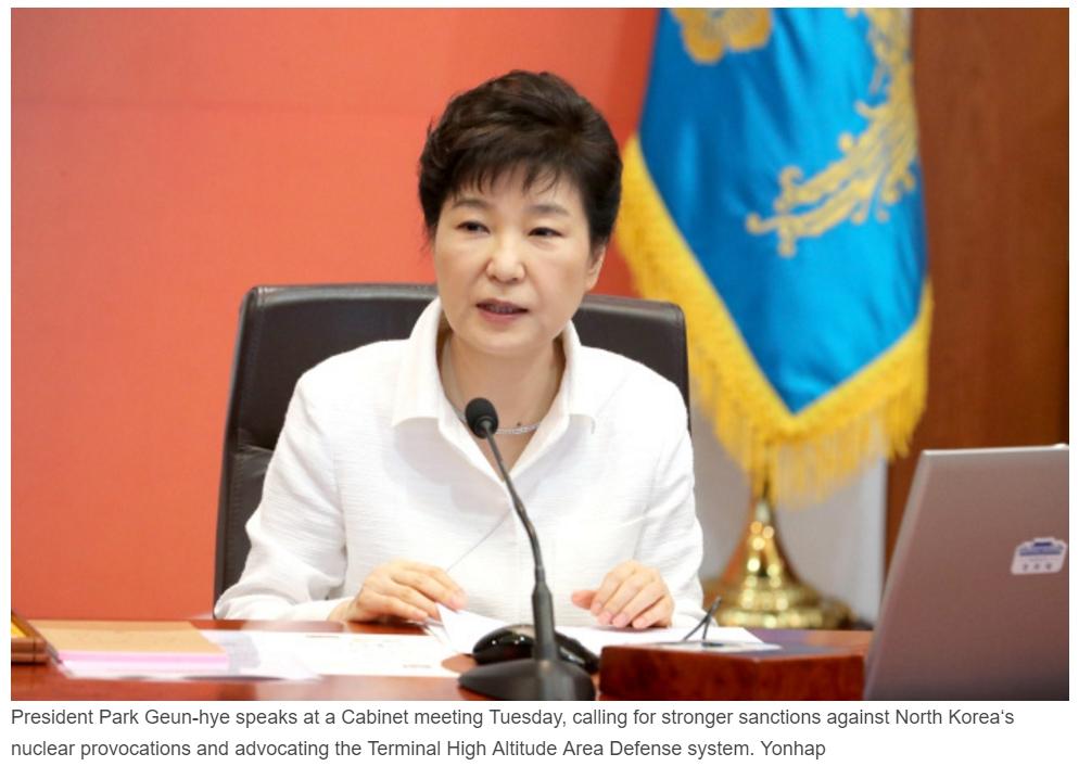 Le cinquième essai nucléaire nord-coréen n'a fait qu'attiser les tensions déjà vives sur la péninsule. Copie d'écran du Korea Herald, le 13 septembre 2016.