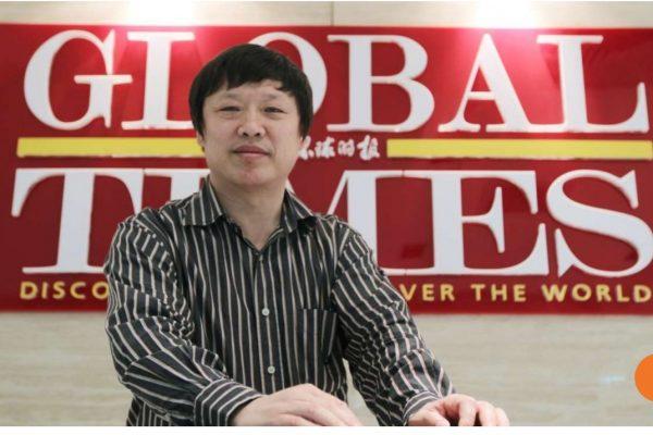 """Hu Xijin, rédacteur en chef du journal Global Times répond à l'ambassadeur de Singapour et déclenche une """"guerre des mots"""". Copie d'écran du South China Morning Post, le 28 septembre 2016."""