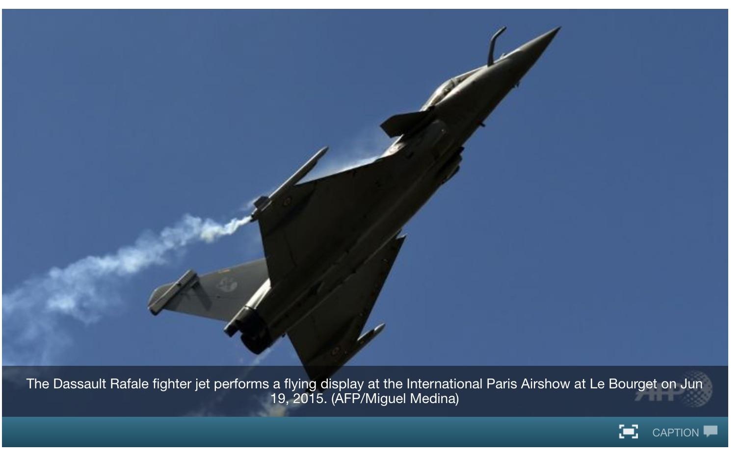 Succès pour le géant de l'aéronautique français: le feu vert à un contrat de vente de 36 avions a été donné après des années de négociations. Copie d'écran de Channel News Asia, le 22 septembre 2016.