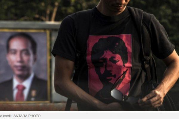 Le président Jokowi viendra-t-il à bout de l'affaire Munir, celle d'un défenseur indonésien des droits de l'homme assassiné en 2004 ? Copie d'écran de Tempo, le 23 septembre 2016.