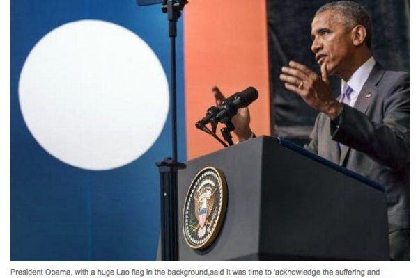 Au sommet de l'ASEAN, à Vientiane, le président américain Barack Obama a une fois encore rappelé l'importance de l'Asie à ses yeux. Ce sera le point d'orgue de sa politique du pivot vers Asie. Copie d'écran du Bangkok Post, le 7 septembre 2016