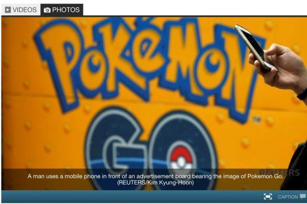 95% des employeurs malaisiens interrogés ont interdit Pokémon Go dans l'espace de travail. Copie d'écran de Channel News Asia, le 26 septembre 2016
