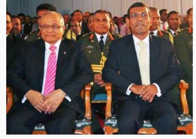 Pour l'ancien président Nasheed, la chute de Yameen est imminente. Copie d'écran de The Hindu, le 15 septembre 2016.