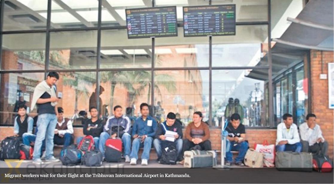 Partir travailler en Malaisie devient hors de prix pour un ouvrier népalais. Copie d'écran du Kathmandu Post, le 19 septembre 2016.