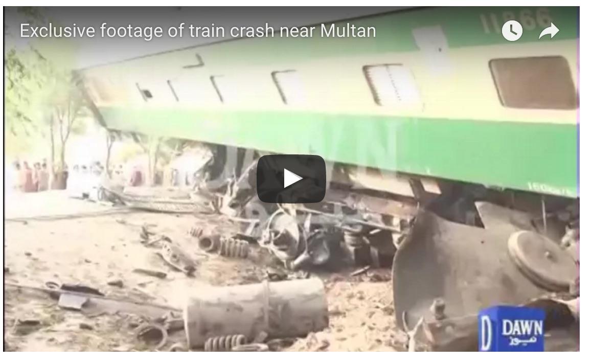 Au moins quatre personnes sont mortes et plus d'une centaine d'autres blessés dans la collision. Copie d'écran du Dawn, le 15 septembre 2016.