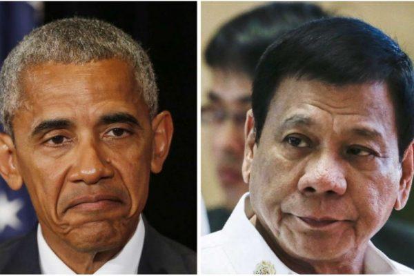 """Rodrigo Duterte s'est excusé après avoir traité Barack Obama de """"fils de pute"""" lors d'une conférence de presse. Copie d'écran du South China Morning Post, le 6 septembre 2016."""
