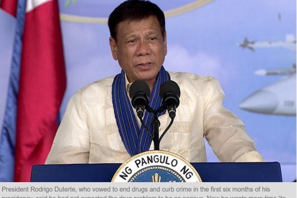 Rodrigo Duterte persiste et signe dans sa guerre contre la drogue. Copie d'écran du Philippine Star, le 19 septembre 2016.