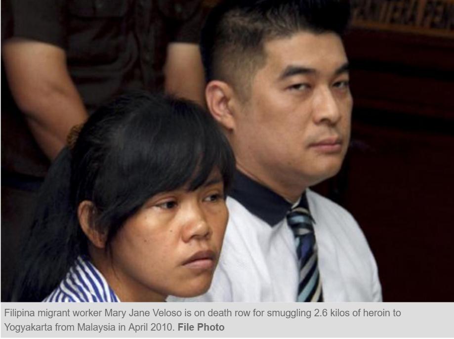 Rodrigo Duterte a annoncé qu'il ne n'avait pas interféré dans les décisions de justice indonésiennes. Copie d'écran du Philippine Star, le 13 septembre 2016.